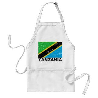 Bandera del vintage de Tanzania Delantales