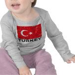Bandera del vintage de Turquía Camisetas