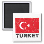 Bandera del vintage de Turquía Imán