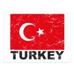 Bandera del vintage de Turquía Postal
