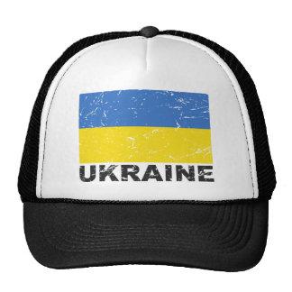 Bandera del vintage de Ucrania Gorras De Camionero