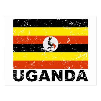 Bandera del vintage de Uganda Postal