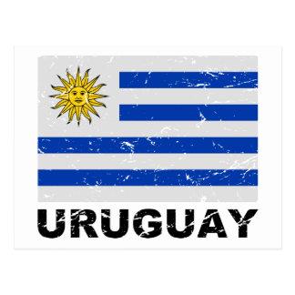 Bandera del vintage de Uruguay Tarjeta Postal