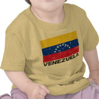 Bandera del vintage de Venezuela Camiseta