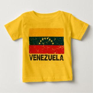 Bandera del vintage de Venezuela Playera De Bebé