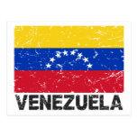 Bandera del vintage de Venezuela Postales