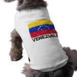 Bandera del vintage de Venezuela Playera Sin Mangas Para Perro