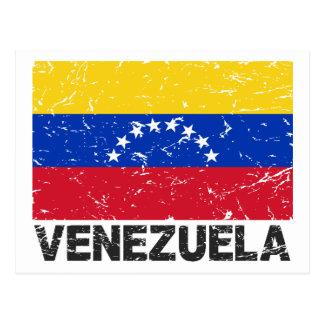 Bandera del vintage de Venezuela Postal