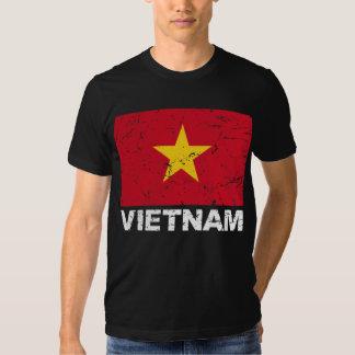 Bandera del vintage de Vietnam Remeras
