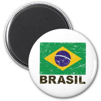 Bandera del vintage del Brasil Imán Para Frigorifico