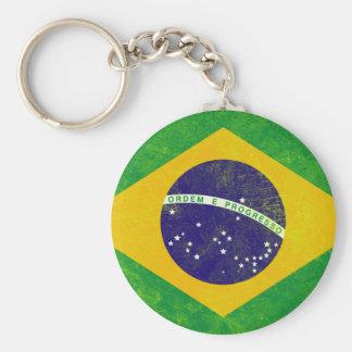 Bandera del vintage del Brasil Llavero