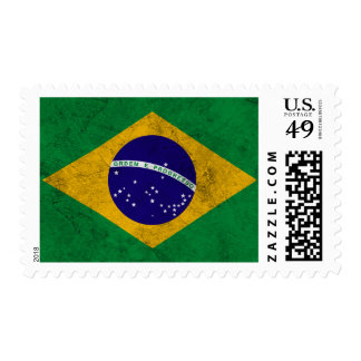 Bandera del vintage del Brasil Sello