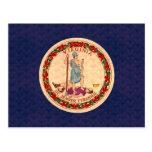 Bandera del Virginian del modelo del vintage Tarjetas Postales