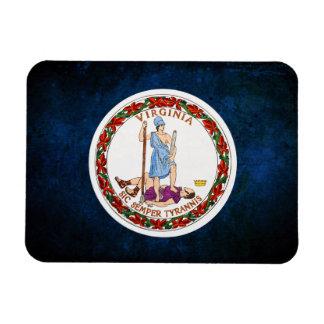 Bandera del Virginian Iman De Vinilo