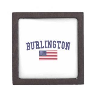 Bandera del VT los E.E.U.U. de Burlington Caja De Recuerdo De Calidad