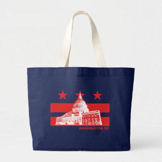 Bandera del Washington DC Bolsa Tela Grande