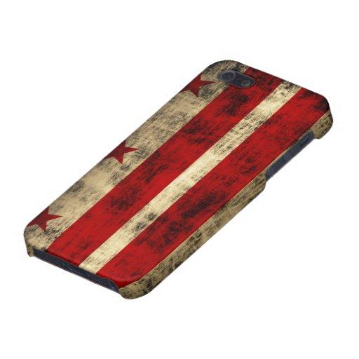Bandera del Washington DC del Grunge iPhone 5 Protectores