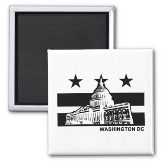 Bandera del Washington DC Imanes De Nevera