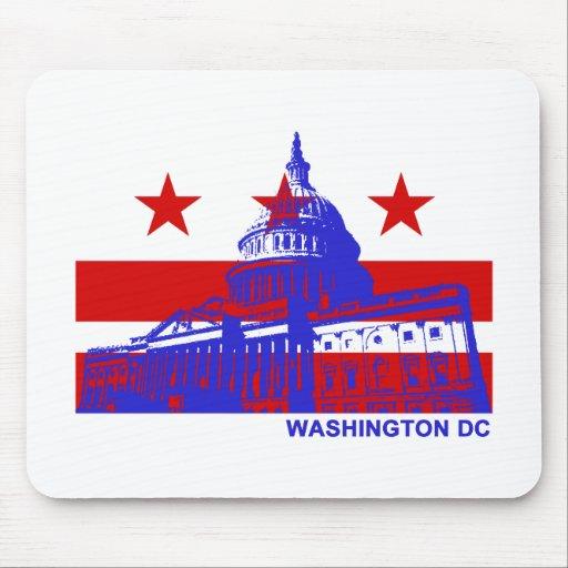 Bandera del Washington DC Mouse Pads