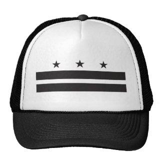 Bandera del Washington DC - negro Gorros