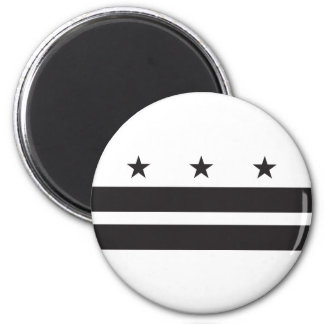 Bandera del Washington DC - negro Imán De Frigorífico