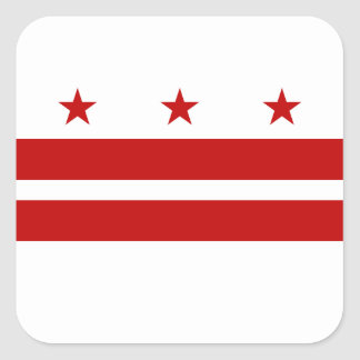 Bandera del Washington DC Pegatina Cuadrada