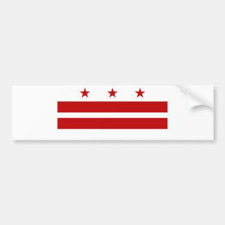 Bandera del Washington DC Pegatina Para Auto