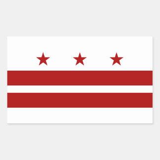 Bandera del Washington DC Pegatina Rectangular