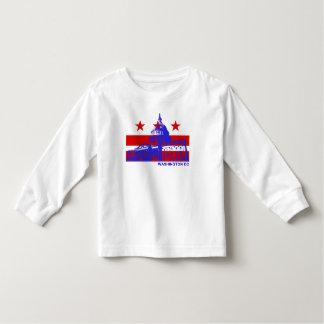 Bandera del Washington DC Playera De Manga Larga De Niño