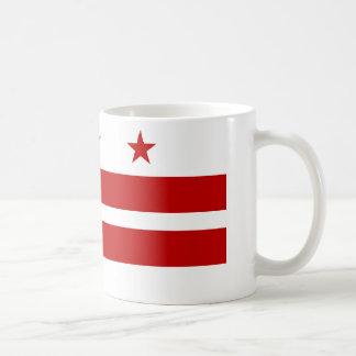 Bandera del Washington DC Taza Básica Blanca