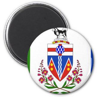 Bandera del Yukón Imán Redondo 5 Cm