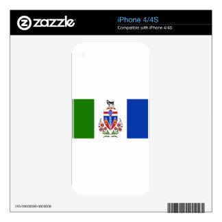 Bandera del Yukón iPhone 4S Calcomanías