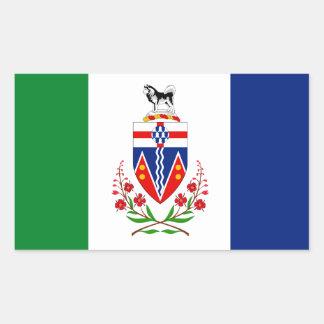Bandera del YUKÓN Pegatina Rectangular
