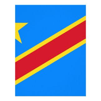 Bandera Democratic del República del Congo Plantilla De Membrete
