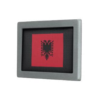 Bandera desapasible de Albania Hebilla De Cinturon Rectangular