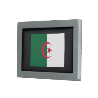 Bandera desapasible de Argelia Hebilla Cinturón Rectangular