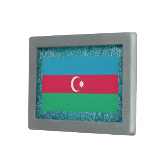 Bandera desapasible de Azerbaijan Hebilla Cinturón Rectangular