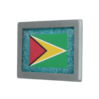 Bandera desapasible de Guyana Hebilla Cinturón Rectangular