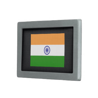 Bandera desapasible de la India Hebillas Cinturón Rectangulares