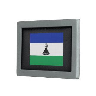 Bandera desapasible de Lesotho Hebillas De Cinturón Rectangulares