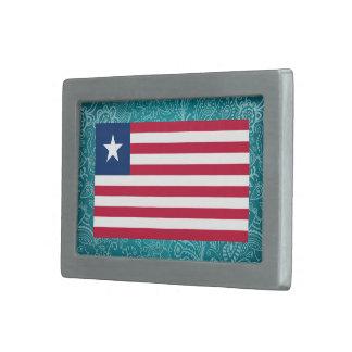 Bandera desapasible de Liberia Hebillas Cinturon Rectangulares