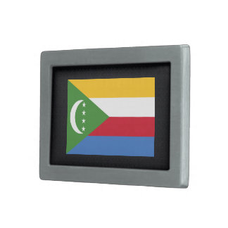Bandera desapasible de los Comoro Hebillas Cinturon Rectangulares