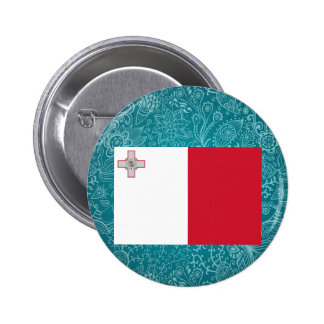 Bandera desapasible de Malta Pin Redondo 5 Cm