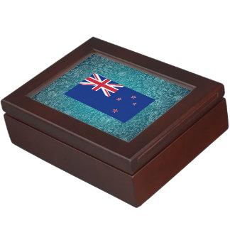 Bandera desapasible de Nueva Zelanda Caja De Recuerdos