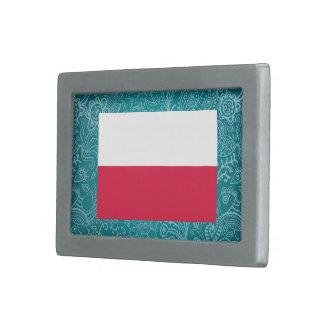 Bandera desapasible de Polonia Hebilla Cinturon Rectangular