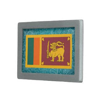 Bandera desapasible de Sri Lanka Hebilla Cinturon Rectangular