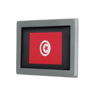 Bandera desapasible de Túnez Hebilla Cinturon Rectangular