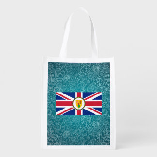 Bandera desapasible de Turks and Caicos Islands Bolsas Para La Compra