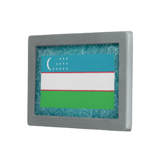 Bandera desapasible de Uzbekistán Hebillas Cinturón Rectangulares