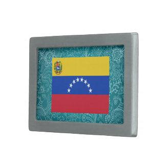 Bandera desapasible de Venezuela Hebilla De Cinturón Rectangular